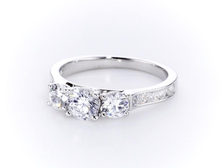 Three Stone Diamond Ring CGHK03790